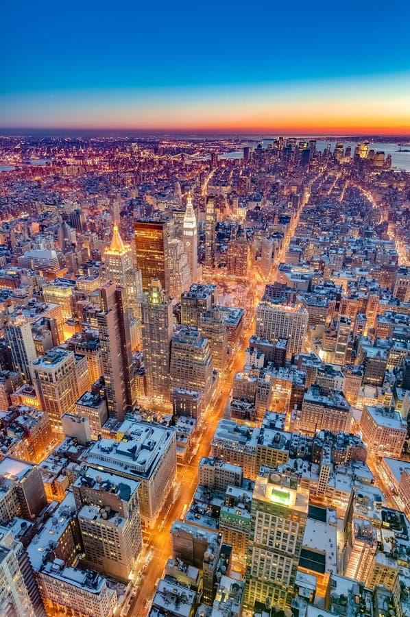 I stadens centrum Manhattan i New York, Förenta staterna royaltyfri fotografi