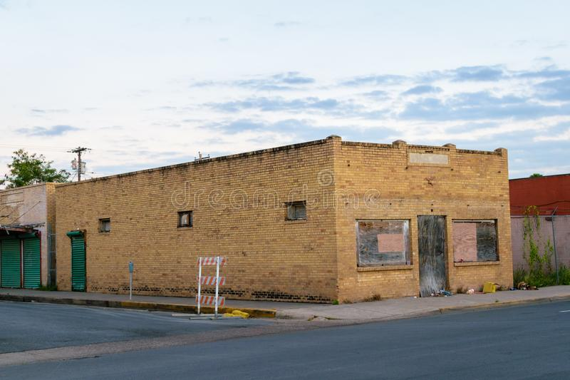 I stadens centrum McAllen, Texas arkivfoton