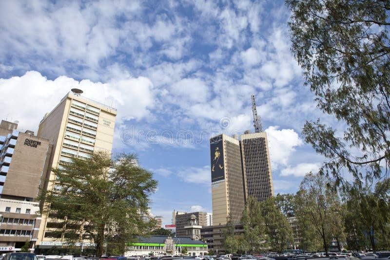 i stadens centrum nairobi royaltyfri fotografi