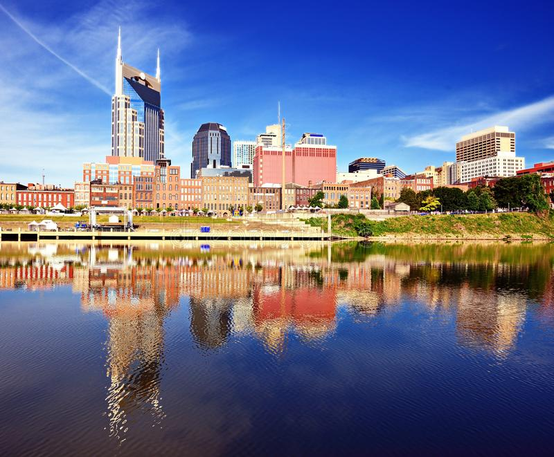 I stadens centrum Nashville royaltyfria foton