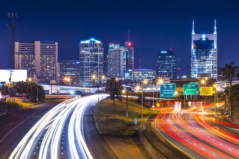 I stadens centrum Nashville fotografering för bildbyråer