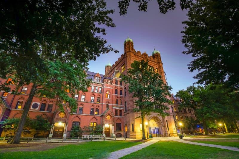I stadens centrum New Haven och Yale University arkivbilder