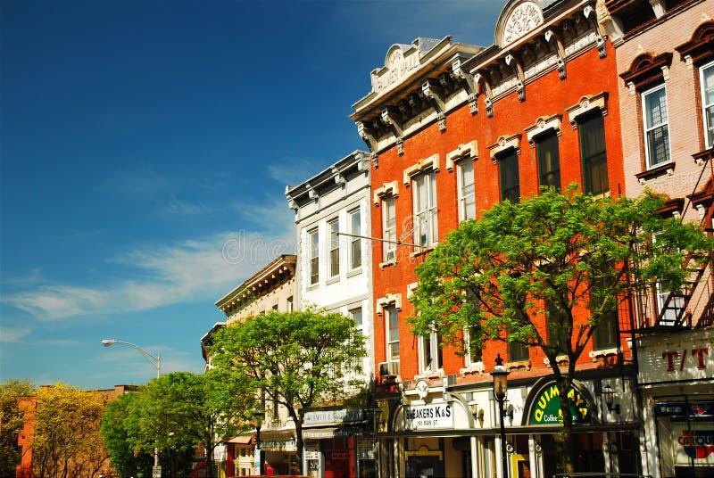 I stadens centrum Ossining New York royaltyfria foton