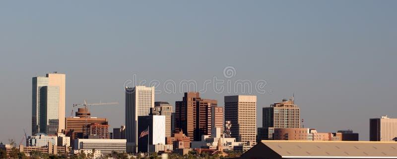 i stadens centrum panorama phoenix royaltyfri foto