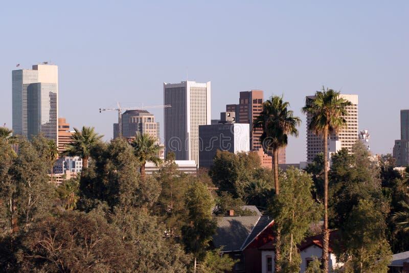 i stadens centrum panorama phoenix arkivbild