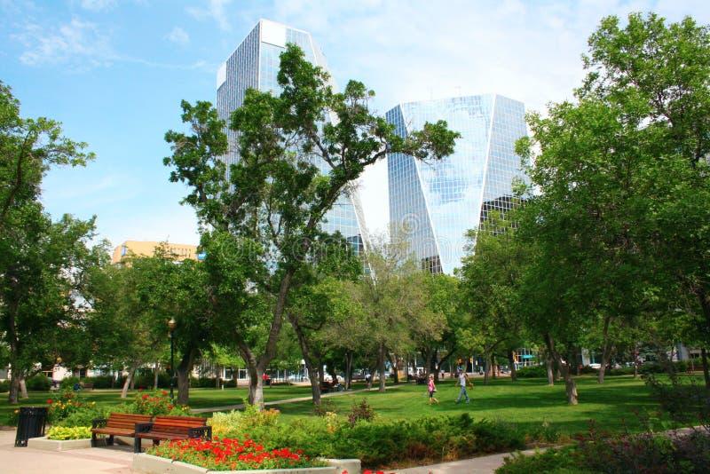 i stadens centrum park regina victoria royaltyfri bild