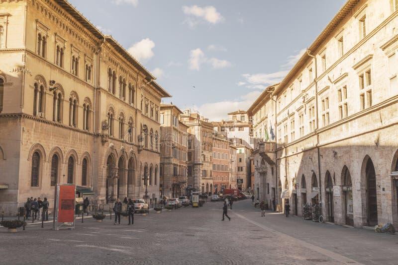 I stadens centrum Perugia, Italien royaltyfri foto