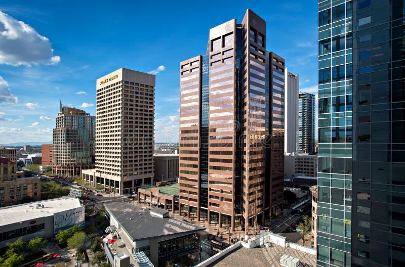 I stadens centrum Phoenix, Arizona royaltyfria bilder