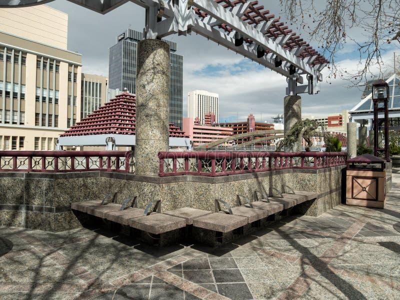 I stadens centrum Reno, Nevada arkivfoto