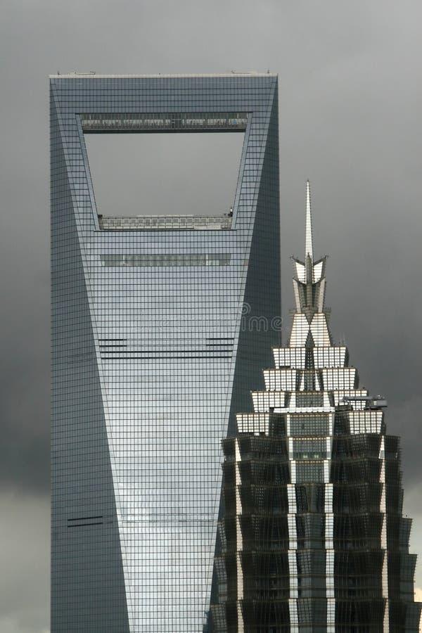 i stadens centrum shanghai för arkitektur bedöva arkivfoto