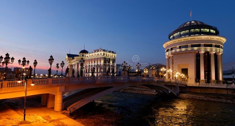 I stadens centrum Skopje arkivbild