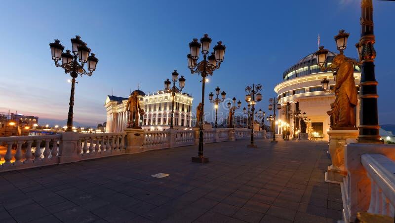 I stadens centrum Skopje royaltyfri bild
