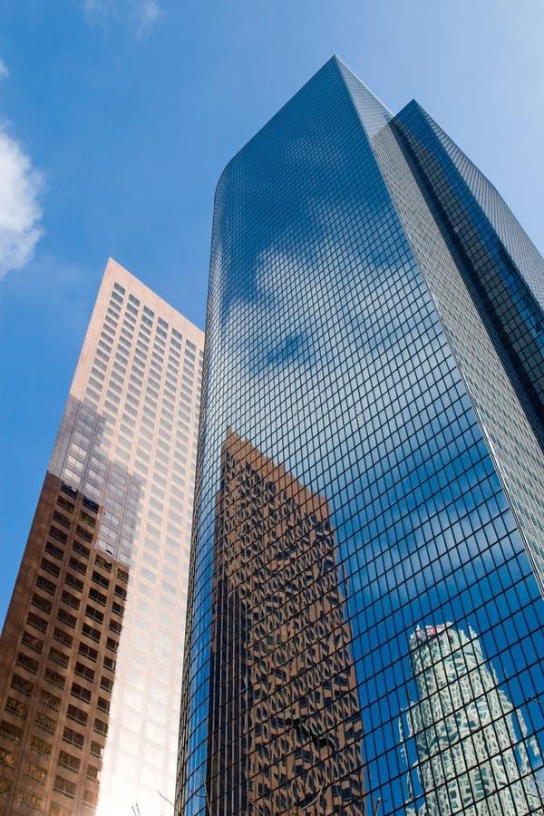i stadens centrum skyskrapa arkivfoton