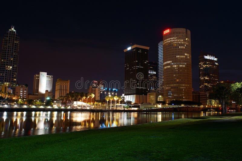 I stadens centrum Tampa, Florida arkivbilder