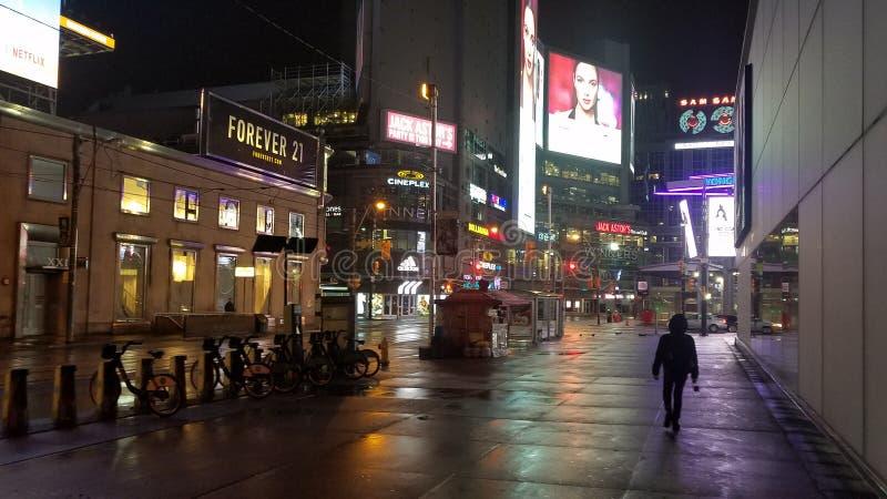 I stadens centrum Toronto tidigt i morgon arkivbild