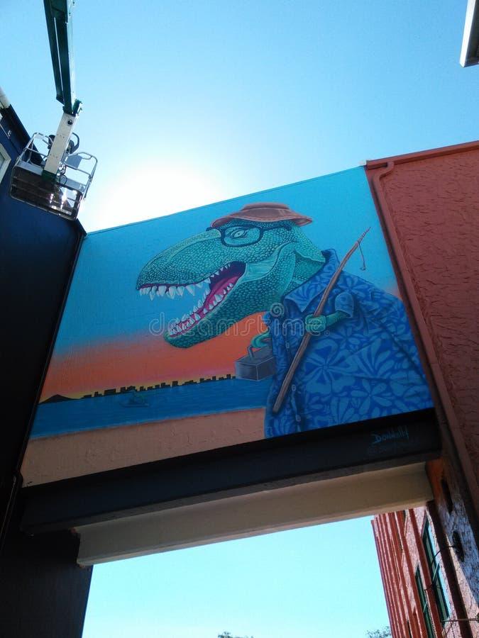 I stadens centrum väggmålning royaltyfri foto