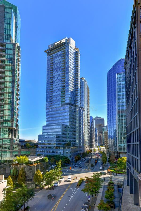 I stadens centrum Vancouver hamn arkivfoton