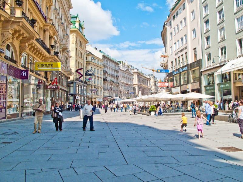i stadens centrum vienna royaltyfria bilder