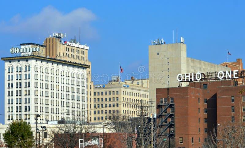 I stadens centrum Youngstown Ohio arkivfoto