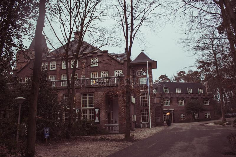 Castle Kerckebosch. I stayed in this hotel which is a former castle and still being used as a luxery hotel. Amazing stay and a stunning view royalty free stock photo