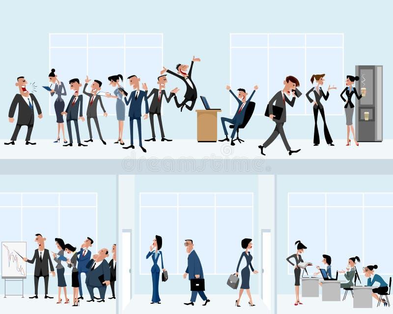 I stort kontor vektor illustrationer