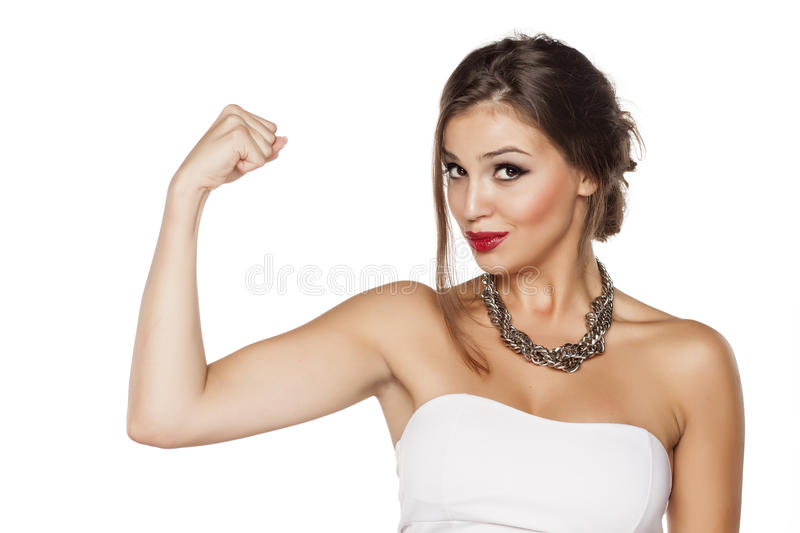 I am strong royalty free stock image