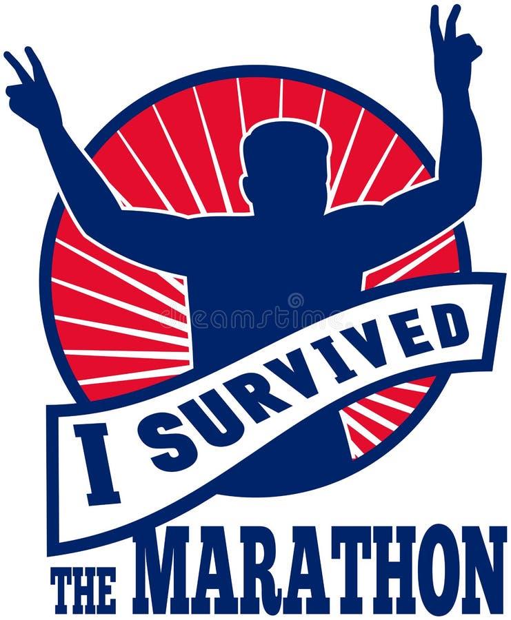 I survived the marathon runner