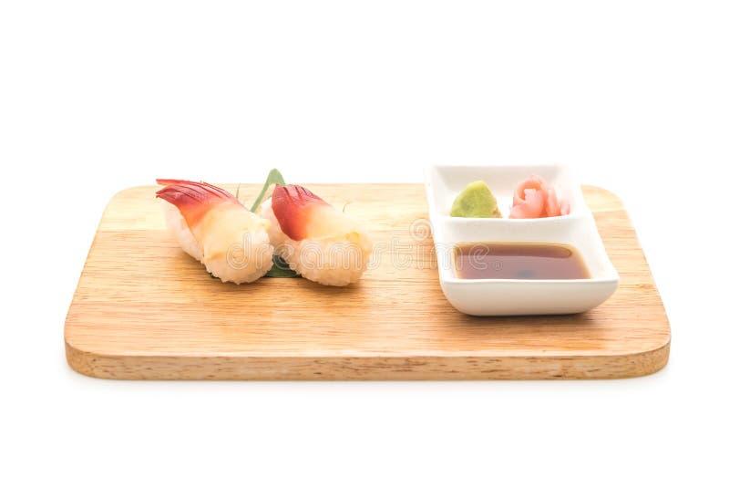 I sushi di nigiri della cappa americana di Stimpson (hokkigai) - alimento giapponese s immagine stock libera da diritti