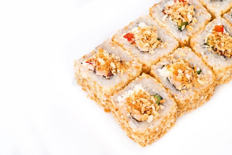 I sushi rotolano più il bianco immagini stock libere da diritti