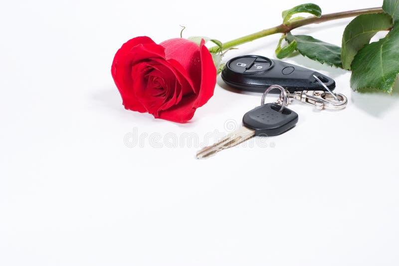 I tasti dell'automobile e bello sono aumentato immagini stock