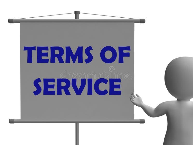 I termini del bordo di servizio mostra la legalità e illustrazione vettoriale
