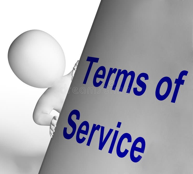 I termini del segno di servizio mostra l'utente ed il fornitore royalty illustrazione gratis