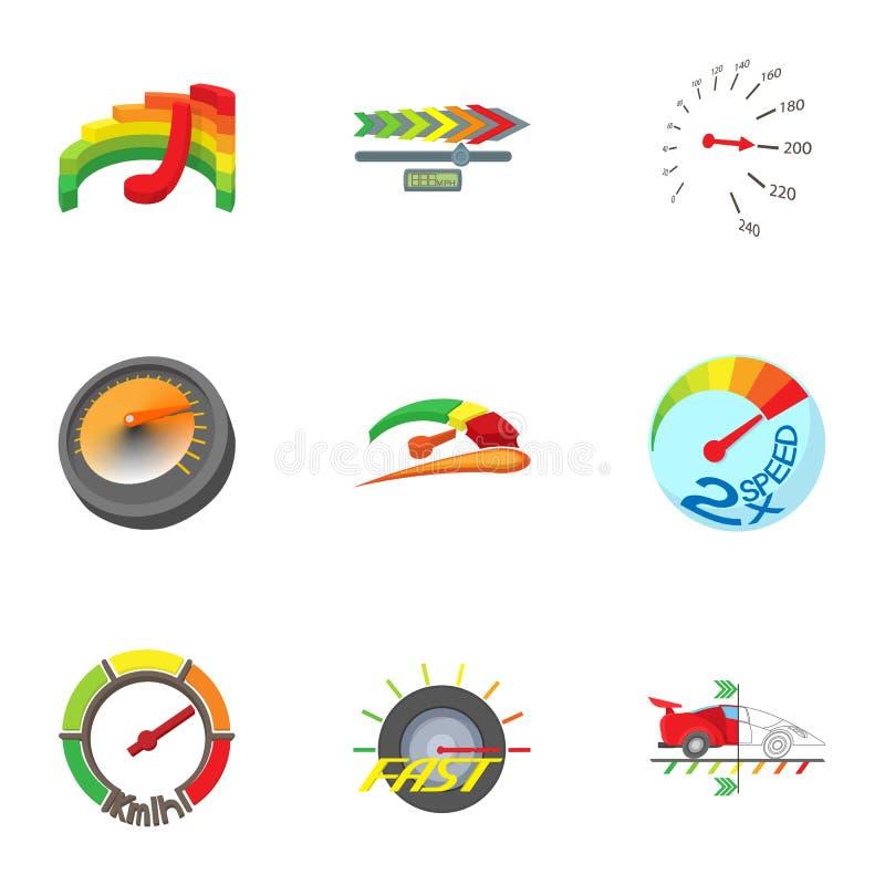 I tipi di icone dei tachimetri hanno messo stile semplice for Tipi di stile
