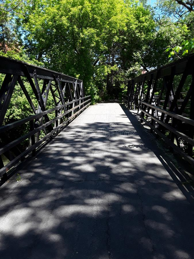 The Bridge At Creekwalk On a Summer afternoon stock photo