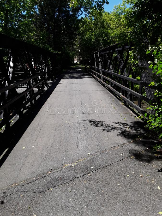 The Bridge At Creekwalk On a Summer afternoon stock photography