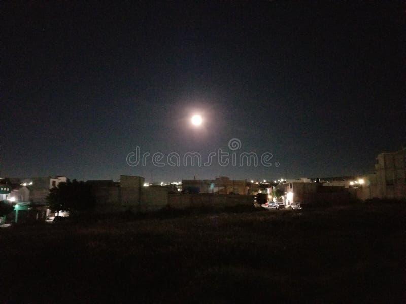 Moon on desperation stock photography
