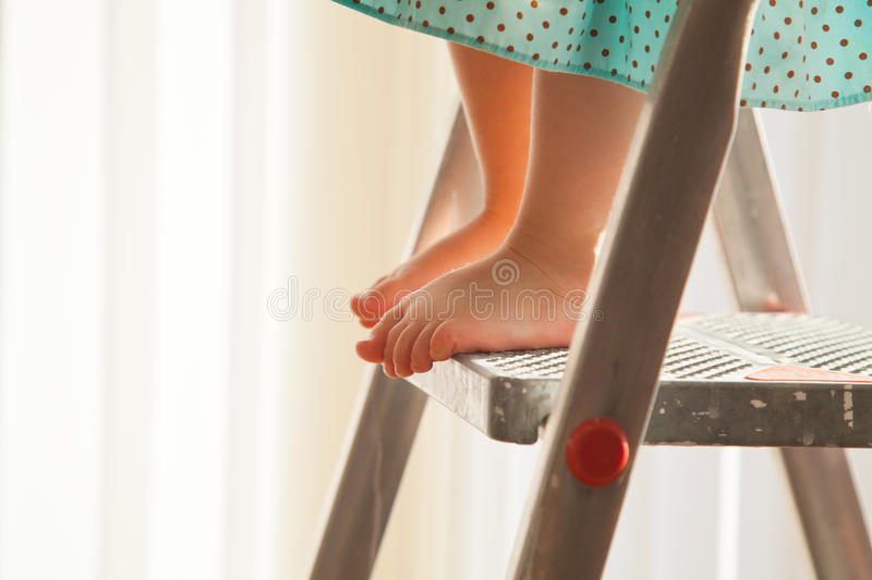 Download I am on the top! stock photo. Image of above, high, ladder - 33210294