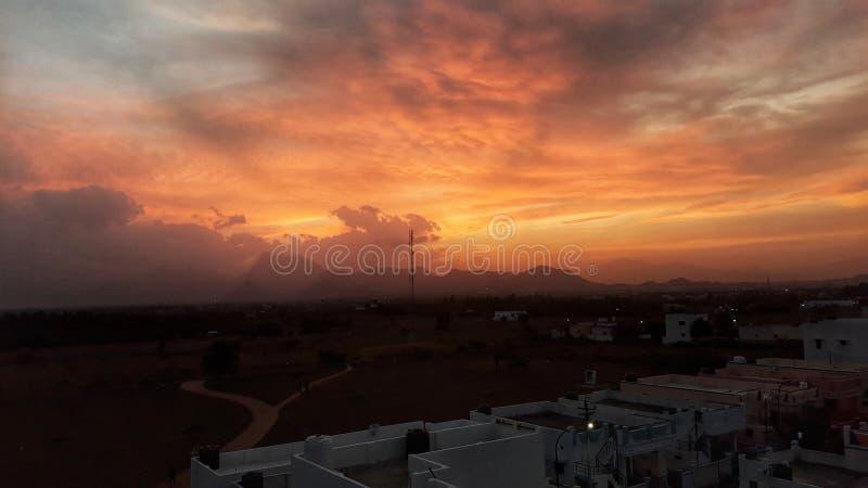 I tramonti possono essere così bei determinate volte fotografia stock