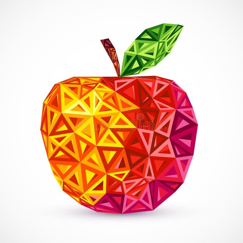 I triangoli luminosi astratti di colori vector la mela illustrazione vettoriale