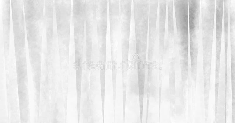 I triangoli sottili astratti in cocci in bianco e nero sbiaditi nel modello geometrico progettano, fondo artsy fresco di arte mod illustrazione di stock
