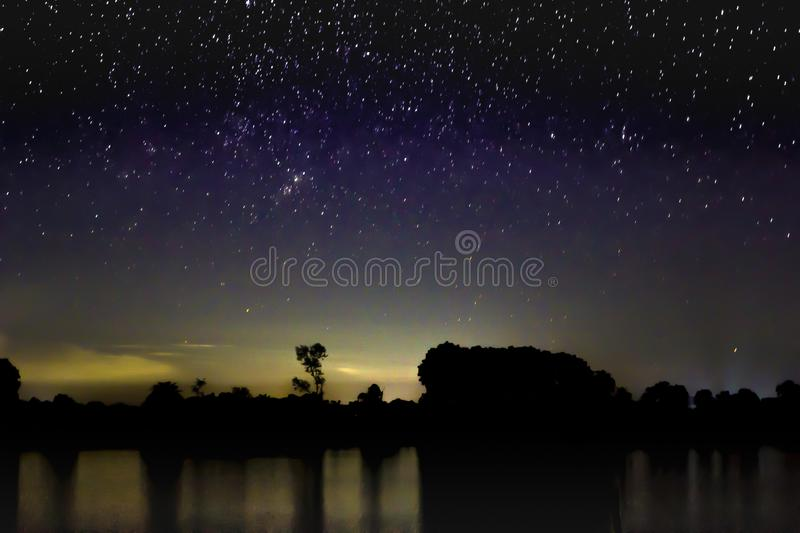 Night sky with full of star royalty free stock image