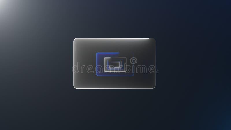 I tunnel con le porte al neon con l'illuminazione luminosa sono nello spazio, fondo generato da computer 3d royalty illustrazione gratis
