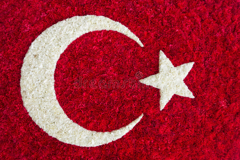 I turco diminuiscono fatto dei fiori fotografia stock libera da diritti