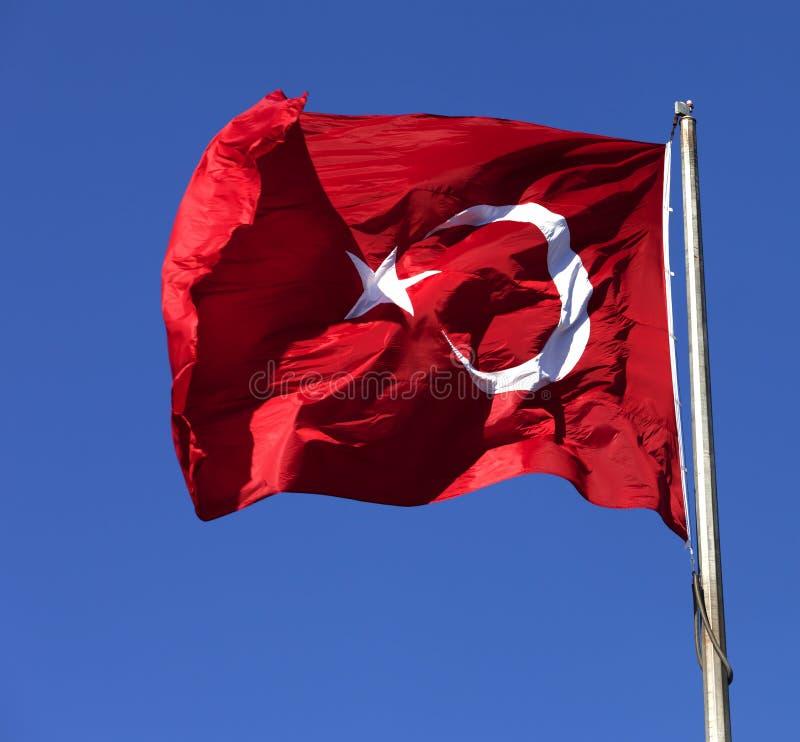 I turco inbandierano l'ondeggiamento fotografia stock