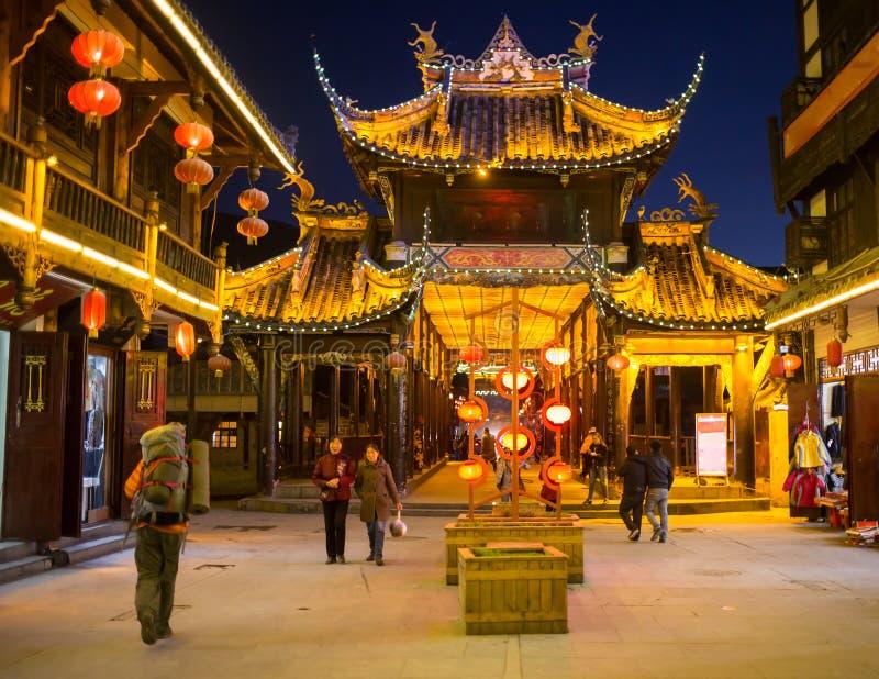 I turisti visitano le viste della Cina fotografie stock libere da diritti