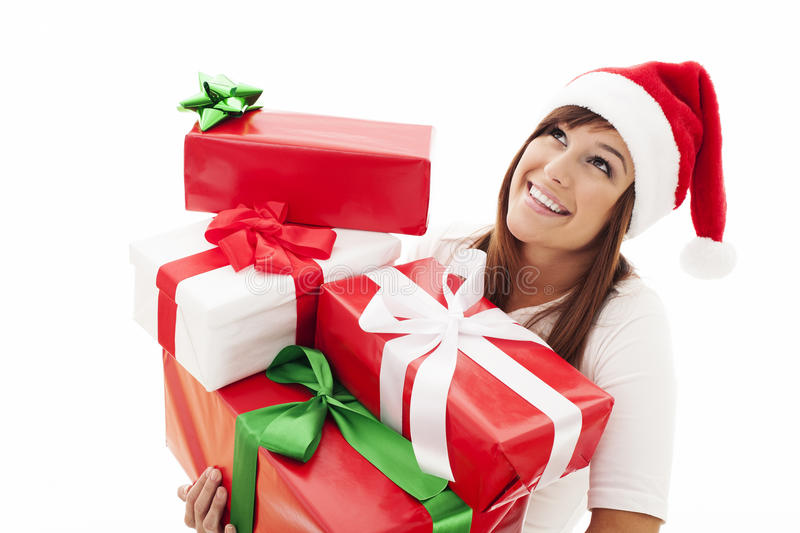 I've got a lot of gifts! royalty free stock photo