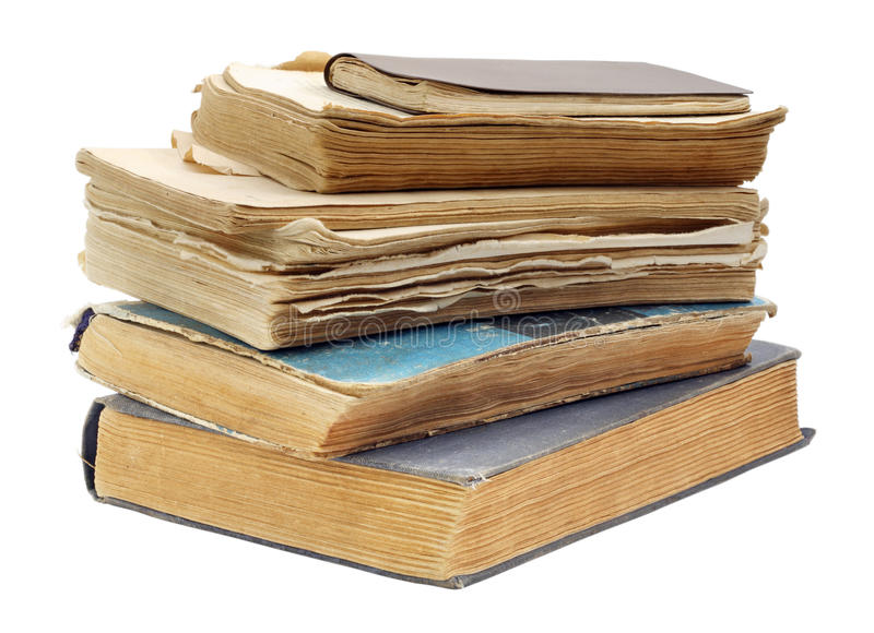I vecchi libri miseri immagine stock