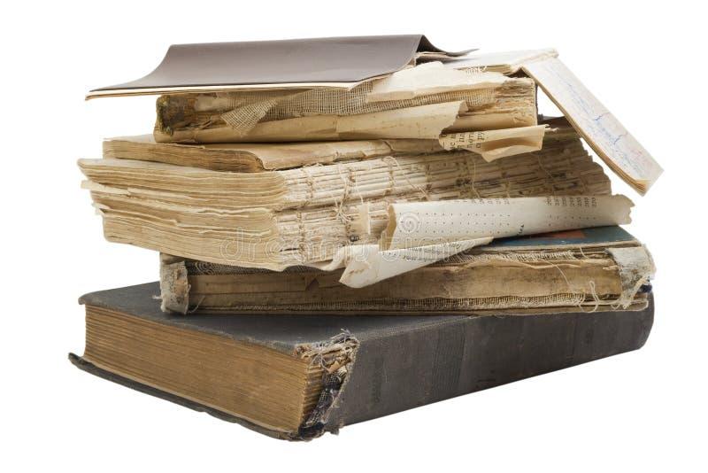 I vecchi retro libri miseri immagini stock libere da diritti