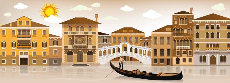 I Venedig stock illustrationer