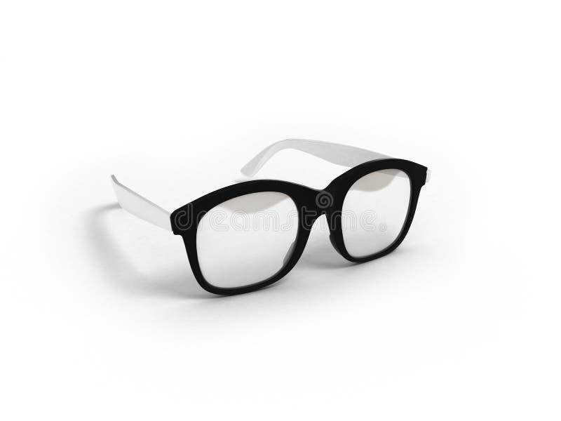 I vetri dell'occhio isolati su 3d bianco rendono royalty illustrazione gratis